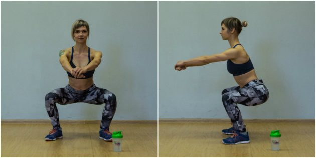 Exercises for the knees: Squats