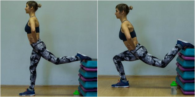Exercises for the knees: A split-squat on one leg