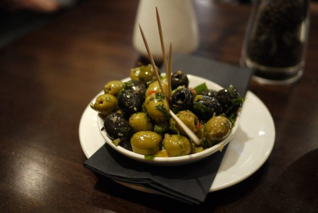 Olives in an acute marinade