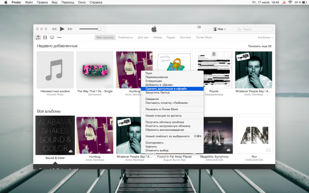 iTunes for OS X.